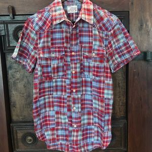 Men's Size S Lucky Brand Madras Button Down